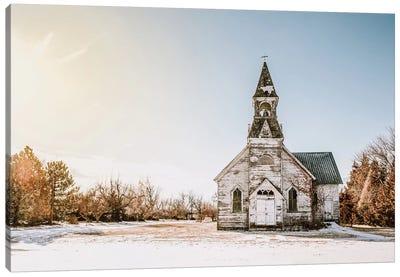 Old White Church Canvas Art Print