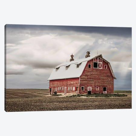 Red Iowa Barn Canvas Print #TEJ67} by Teri James Canvas Artwork