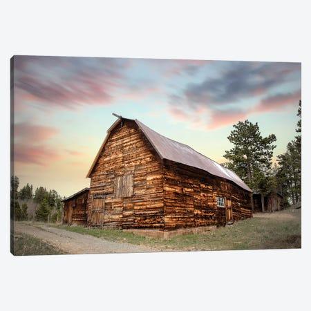 Wood Barn At Sunset Canvas Print #TEJ82} by Teri James Art Print