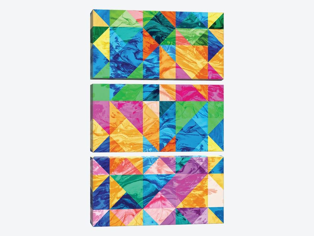 Pattern IX by Tenyo Marchev 3-piece Canvas Artwork