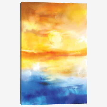 Abstract Sunset Artwork I Canvas Print #TEM10} by Tenyo Marchev Canvas Art Print