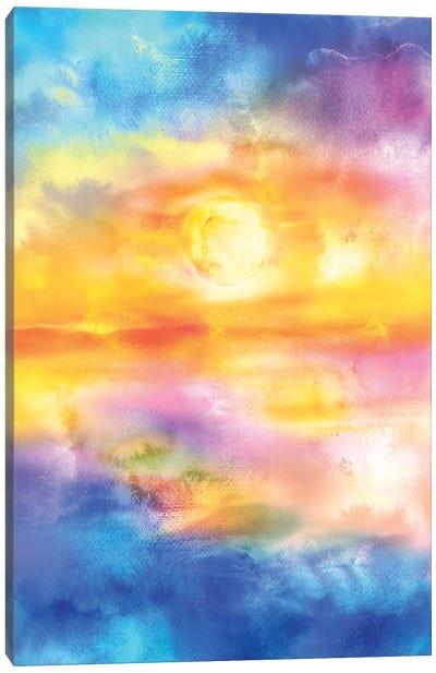 Abstract Sunset Artwork II Canvas Art Print