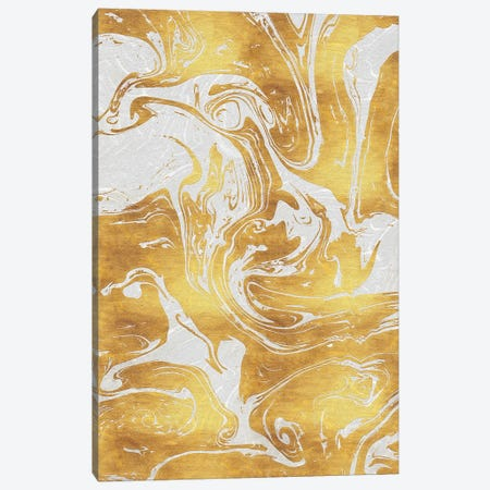 White Dragon Marble Canvas Print #TEM121} by Tenyo Marchev Canvas Artwork