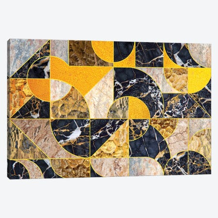 Geometric Marble I - Horizontal Canvas Print #TEM127} by Tenyo Marchev Canvas Art Print