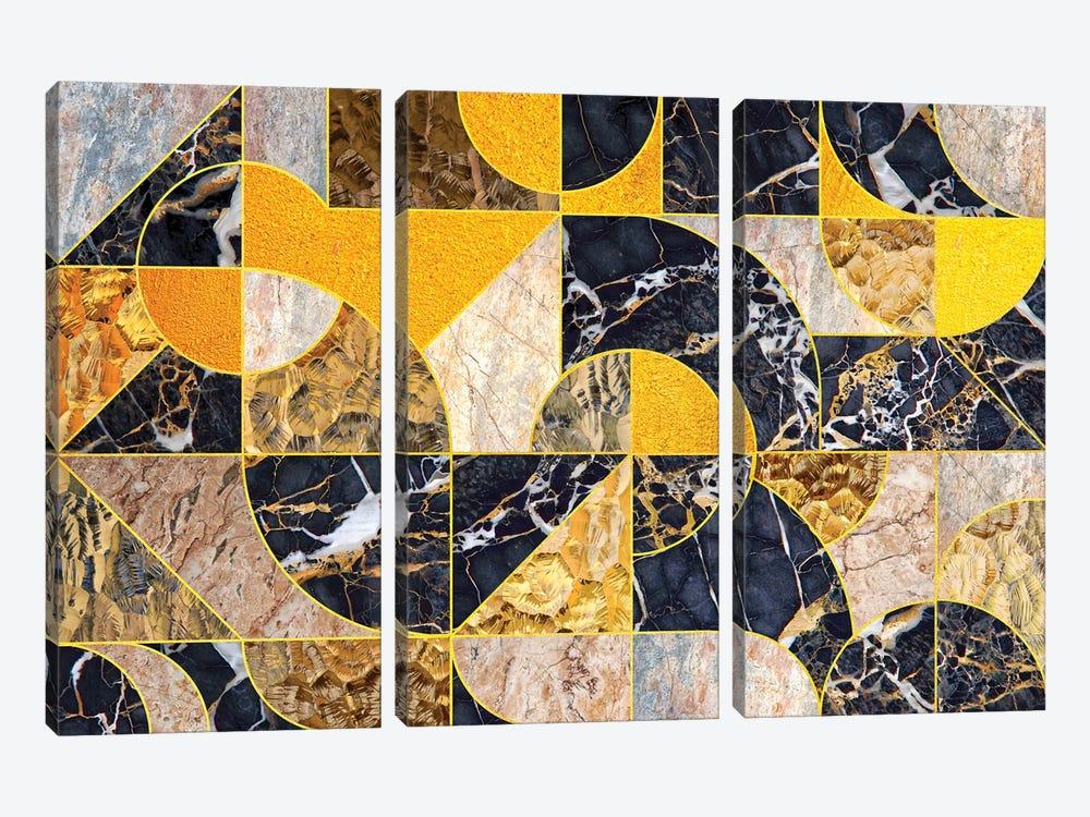 Geometric Marble I - Horizontal by Tenyo Marchev 3-piece Canvas Wall Art