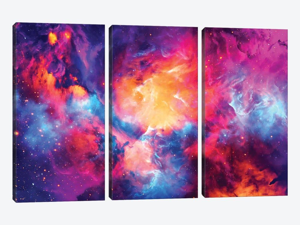Artistic XI - Colorful Nebula by Tenyo Marchev 3-piece Art Print