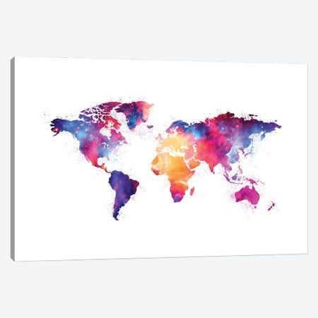 Artistic XIV - Colorful Nebula World Map Canvas Print #TEM27} by Tenyo Marchev Canvas Print
