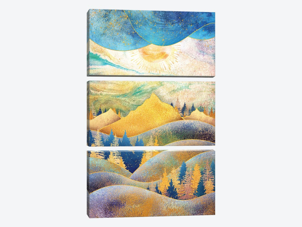 Beauty of Nature - Illustration III by Tenyo Marchev 3-piece Canvas Print