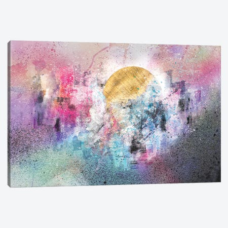 Abstract City Sunset Canvas Print #TEM2} by Tenyo Marchev Art Print