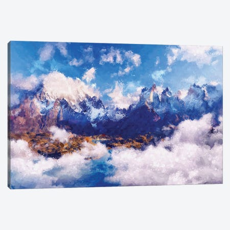 Digital Art III - Cloudy Mountain Canvas Print #TEM43} by Tenyo Marchev Canvas Art