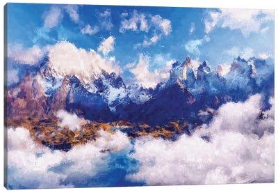 Digital Art III - Cloudy Mountain Canvas Art Print