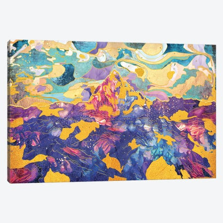 Dreamy Mountain - Illustration II Canvas Print #TEM48} by Tenyo Marchev Canvas Art