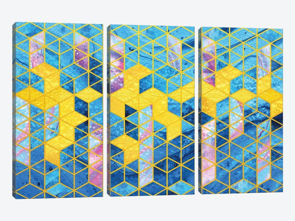 Geometric XXXXII by Tenyo Marchev 3-piece Canvas Print