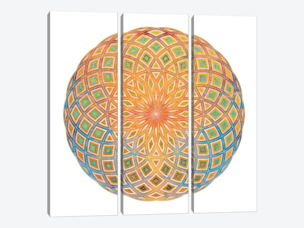 Life Geometry by Tenyo Marchev 3-piece Canvas Wall Art