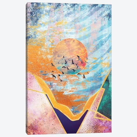 Abstract Sunset - Illustration VI Canvas Print #TEM9} by Tenyo Marchev Art Print