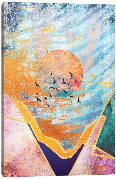 Abstract Sunset - Illustration VI Canvas Art Print