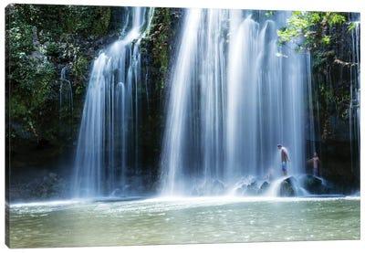 Under The Waterfall, Costa Rica Canvas Art Print
