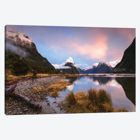 Milford Sound, New Zealand III Canvas Print #TEO1009} by Matteo Colombo Canvas Print