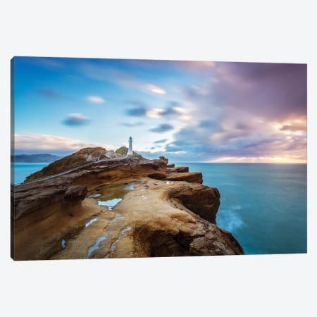 Dawn At The Lighthouse, New Zealand Canvas Print #TEO1010} by Matteo Colombo Canvas Wall Art