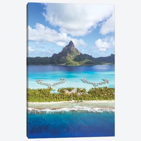Flying Over Bora Bora Canvas Print #TEO1017} by Matteo Colombo Art Print