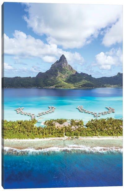 Flying Over Bora Bora Canvas Art Print