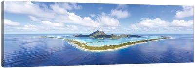 Aerial Panorama, Bora Bora Canvas Art Print