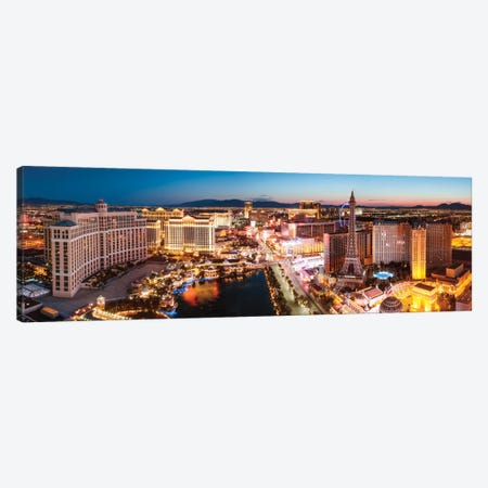 The Las Vegas Strip At Sunrise, Las Vegas, Nevada, USA Canvas Print #TEO101} by Matteo Colombo Canvas Art Print