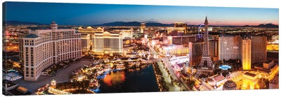 The Las Vegas Strip At Sunrise, Las Vegas, Nevada, USA Canvas Print #TEO101