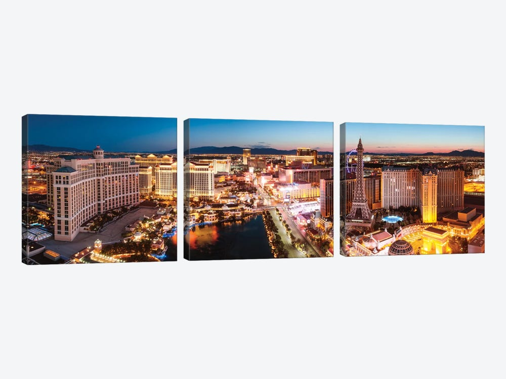 The Las Vegas Strip At Sunrise, Las Vegas, Nevada, USA by Matteo Colombo 3-piece Canvas Wall Art