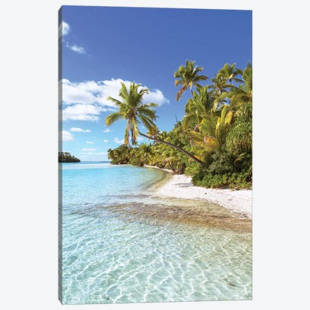 The Perfect Beach, Cook Islands Canvas Print #TEO1027} by Matteo Colombo Canvas Art