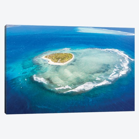 Heart Island, Fiji I Canvas Print #TEO1028} by Matteo Colombo Canvas Print