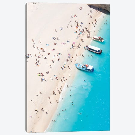 Relax At The Beach I Canvas Print #TEO1033} by Matteo Colombo Canvas Art