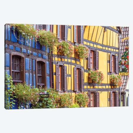 Houses In Alsace, France Canvas Print #TEO1035} by Matteo Colombo Art Print