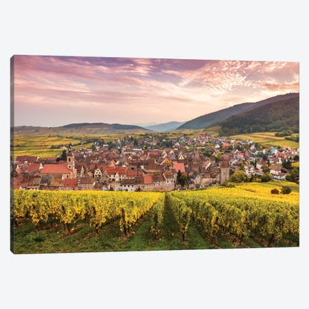 Sunset On The Vineyards, Alsace Canvas Print #TEO1036} by Matteo Colombo Canvas Art Print