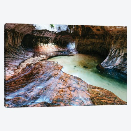 The Subway, Zion National Park, Utah, USA Canvas Print #TEO103} by Matteo Colombo Art Print