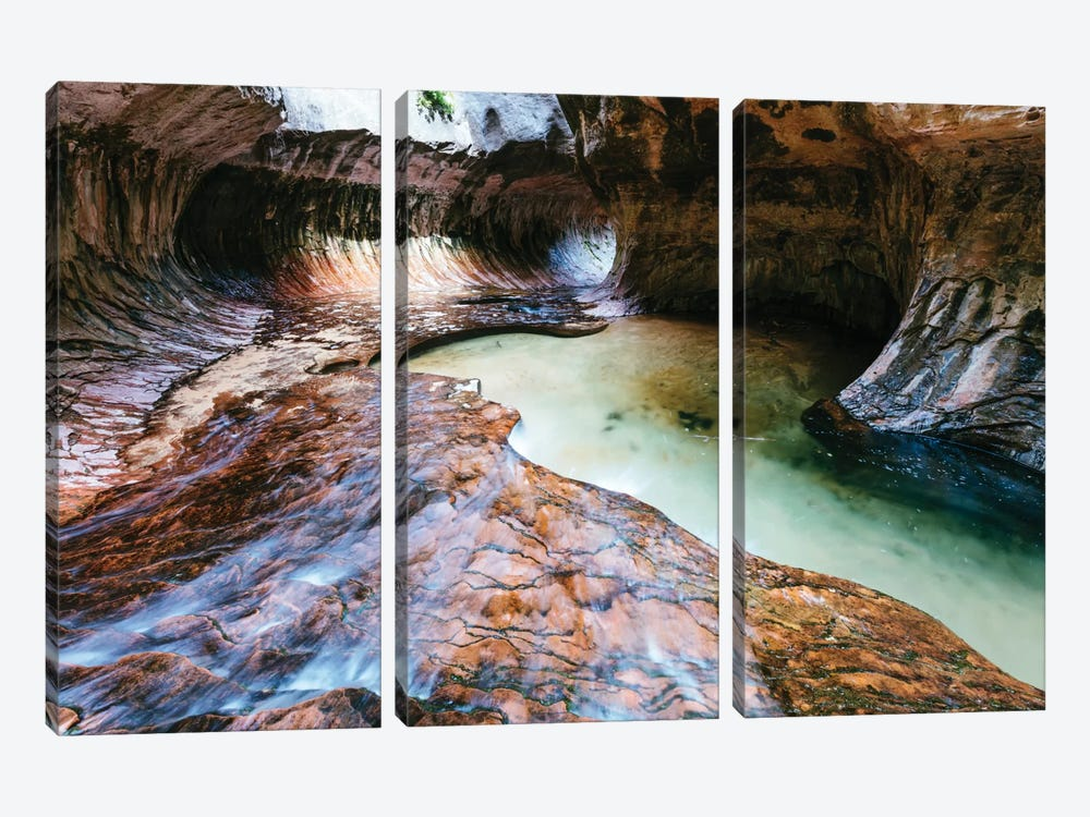 The Subway, Zion National Park, Utah, USA by Matteo Colombo 3-piece Canvas Art