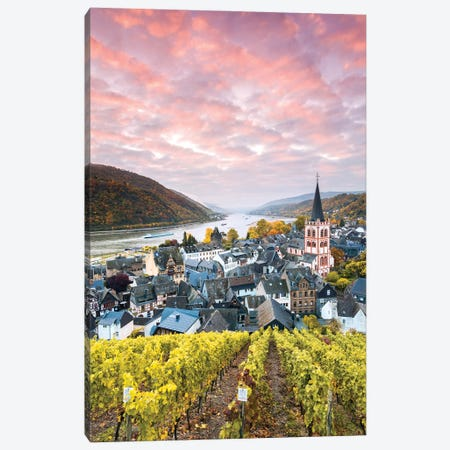 Sunset On The Rhine, Germany I Canvas Print #TEO1040} by Matteo Colombo Art Print