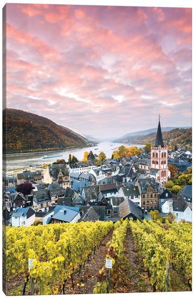 Sunset On The Rhine, Germany I Canvas Art Print
