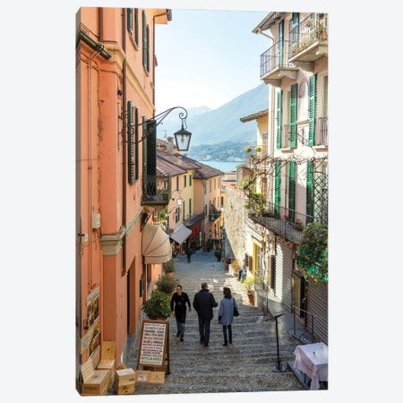 In The Streets Of Bellagio, Italy Canvas Print #TEO1054} by Matteo Colombo Canvas Print