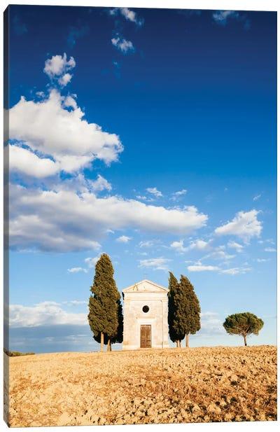 Vitaleta Chapel (Cappella della Madonna di Vitaleta), Val d'Orcia, Tuscany, Italy Canvas Print #TEO105