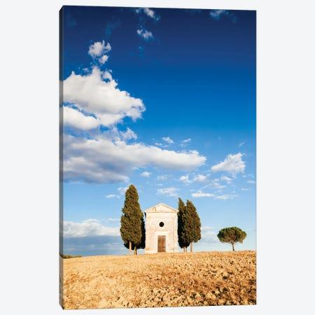 Vitaleta Chapel (Cappella della Madonna di Vitaleta), Val d'Orcia, Tuscany, Italy Canvas Print #TEO105} by Matteo Colombo Canvas Wall Art