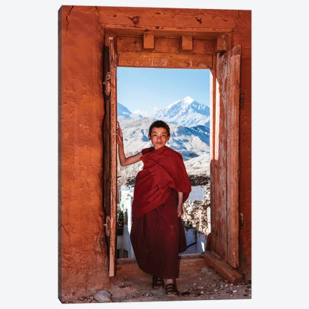 Novice Monk, Nepal II Canvas Print #TEO1061} by Matteo Colombo Canvas Print
