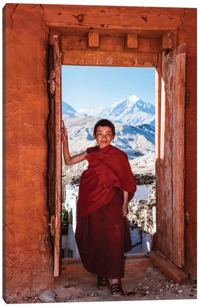 Novice Monk, Nepal II Canvas Art Print