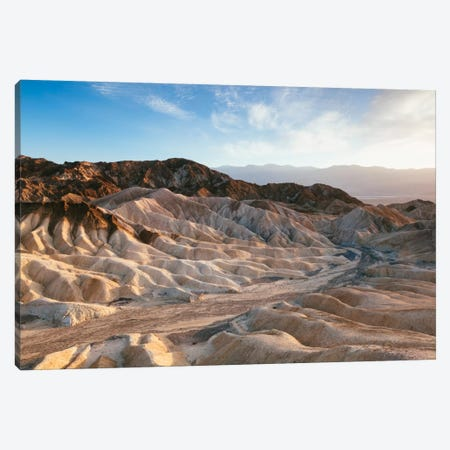 Zabriskie Point At Sunset, Death Valley National Park, California, USA Canvas Print #TEO106} by Matteo Colombo Canvas Wall Art