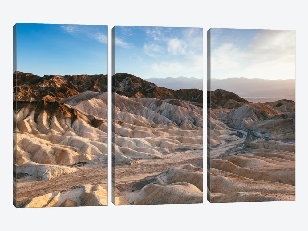 Zabriskie Point At Sunset, Death Valley National Park, California, USA by Matteo Colombo 3-piece Art Print