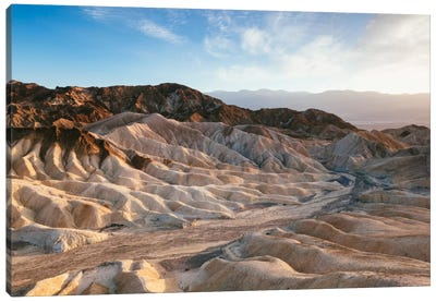 Zabriskie Point At Sunset, Death Valley National Park, California, USA Canvas Art Print