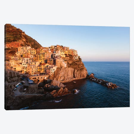 Cinque Terre Sunset I Canvas Print #TEO1071} by Matteo Colombo Canvas Artwork