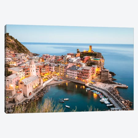 Cinque Terre Sunset III Canvas Print #TEO1073} by Matteo Colombo Canvas Art