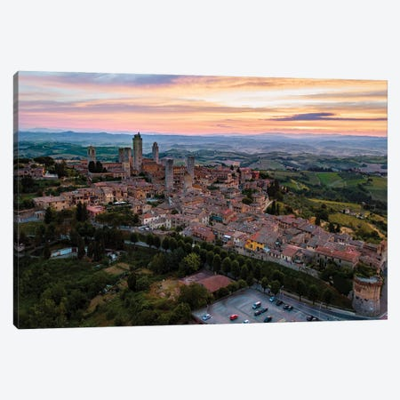 San Gimignano, Tuscany Canvas Print #TEO1077} by Matteo Colombo Canvas Art Print