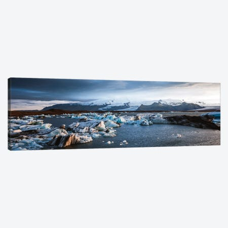 Glacial Lagoon, Iceland II Canvas Print #TEO1082} by Matteo Colombo Canvas Print